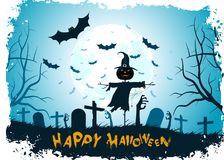 Priorità bassa Grungy di Halloween Immagine Stock Libera da Diritti