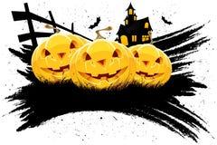 Priorità bassa Grungy di Halloween con le zucche illustrazione vettoriale