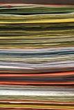 Priorità bassa impilata dei dispositivi di piegatura di archivio Fotografia Stock