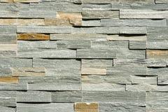 Priorità bassa impilata piana della parete di pietra Fotografie Stock