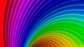 Priorità bassa impressionante del Rainbow 3d Immagine Stock Libera da Diritti