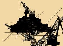 Priorità bassa industriale astratta Immagini Stock Libere da Diritti