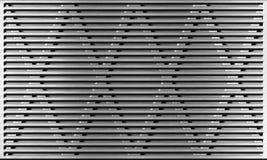 Priorità bassa industriale della griglia di alluminio del metallo Fotografia Stock Libera da Diritti