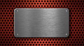 Priorità bassa industriale di piastra metallica Fotografia Stock