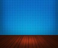 Priorità bassa interna blu della stanza illustrazione di stock
