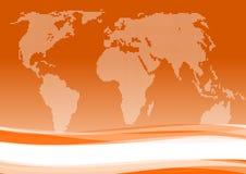 Priorità bassa internazionale dell'arancio di affari Fotografia Stock Libera da Diritti