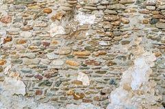 Priorità bassa invecchiata della parete della via, struttura Fotografia Stock