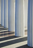 Priorità bassa ionica delle colonne Fotografia Stock Libera da Diritti