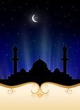 Priorità bassa islamica di Ramadan Fotografia Stock