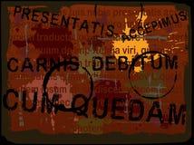 Priorità bassa latina 5 di Grunge del testo Fotografie Stock Libere da Diritti