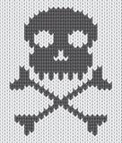 Priorità bassa lavorata a maglia con il cranio Immagini Stock Libere da Diritti