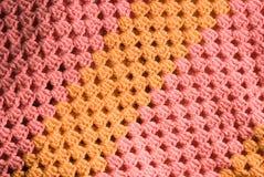 Priorità bassa lavorata a maglia del cotone Fotografia Stock