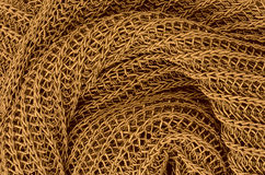 Priorità bassa lavorata a maglia dorata del pullover fotografia stock libera da diritti