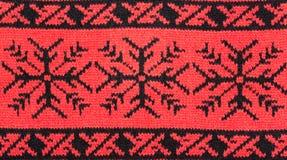 Priorità bassa lavorata a maglia rossa Immagini Stock Libere da Diritti