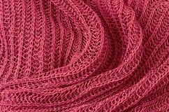 Priorità bassa lavorata a maglia rossa del pullover immagini stock libere da diritti