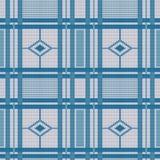 Priorità bassa lavorata a maglia senza giunte multicolore Struttura Fondo dei trafori di colore del tessuto illustrazione vettoriale
