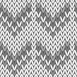 Priorità bassa lavorata a maglia senza giunte Reticolo lavorato a maglia Maglione grigio illustrazione vettoriale