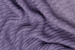 Priorità bassa lavorata a maglia viola del pullover fotografia stock libera da diritti