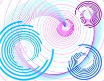 Priorità bassa lilla con il cerchio. Fotografie Stock