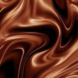Priorità bassa liquida del cioccolato Immagine Stock