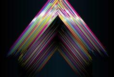 Priorità bassa lucida del triangolo Fotografia Stock