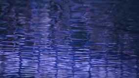 Priorità bassa luminosa dell'acqua blu archivi video