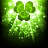 Priorità bassa luminosa di festa di St.Patrick Fotografie Stock