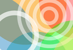 Priorità bassa luminosa di gradiente dei cerchi di colori Immagini Stock