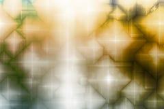 Priorità bassa magica gialla blu dell'estratto di fantasia Fotografia Stock Libera da Diritti