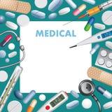Priorità bassa medica Immagine Stock Libera da Diritti