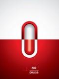 Priorità bassa medica dell'anti droga Fotografie Stock