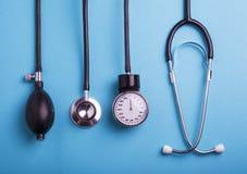 Priorità bassa medica Strumenti medici Fotografia Stock