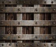 Priorità bassa medioevale dell'oggetto d'antiquariato del castello del metallo Fotografie Stock