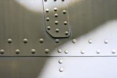 Priorità bassa metallica astratta Struttura rivettata del metallo Immagini Stock Libere da Diritti