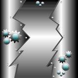 Priorità bassa metallica con gli attrezzi illustrazione di stock