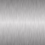 Priorità bassa metallica d'argento spazzolata Fotografia Stock Libera da Diritti