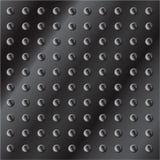 Priorità bassa metallica scura con i bulloni Fotografia Stock
