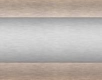 Priorità bassa metallica spazzolata Illustrazione di Stock