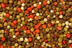 Priorità bassa Mixed dei granelli di pepe Immagini Stock Libere da Diritti