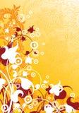 Priorità bassa moderna astratta con gli elementi floreali, illustra di vettore Fotografia Stock Libera da Diritti