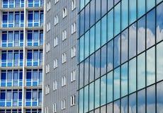 Priorità bassa moderna delle costruzioni della città Fotografie Stock Libere da Diritti
