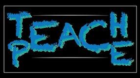 Priorità bassa moderna Insegni all'illustrazione di pace - messaggio dell'illusione Immagini Stock Libere da Diritti