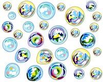 Priorità bassa Multi-colored delle bolle Fotografia Stock