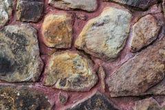 Priorità bassa multicolore della parete di pietra Fotografia Stock