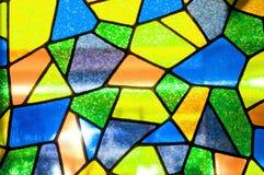 Priorità bassa multicolore di vetro macchiato Fotografia Stock Libera da Diritti