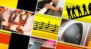 Priorità bassa musicale. Fotografia Stock
