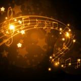 Priorità bassa musicale Fotografie Stock