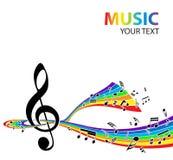 Priorità bassa musicale Fotografia Stock