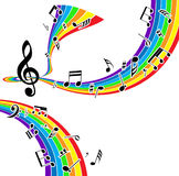 Priorità bassa musicale Fotografie Stock Libere da Diritti
