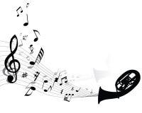 Priorità bassa musicale Immagini Stock